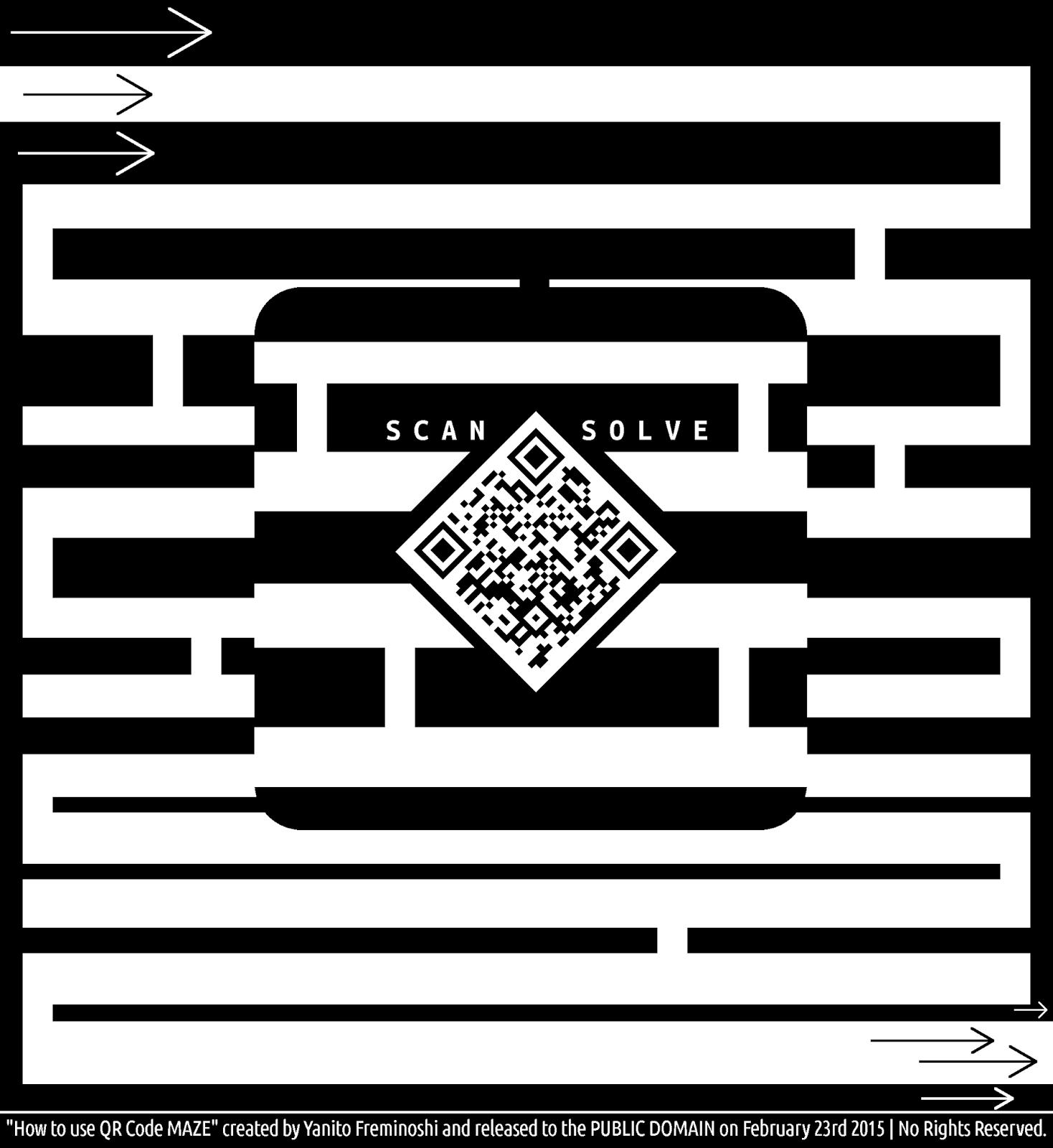 qr code proper use maze
