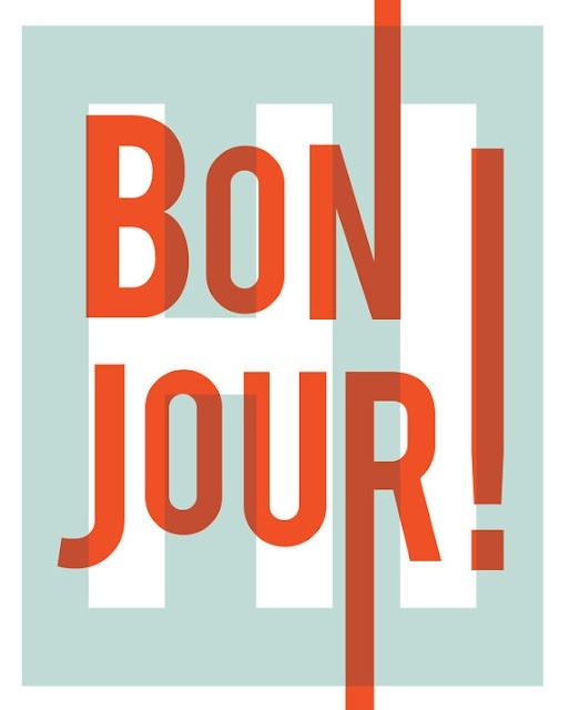 bonjour typographie