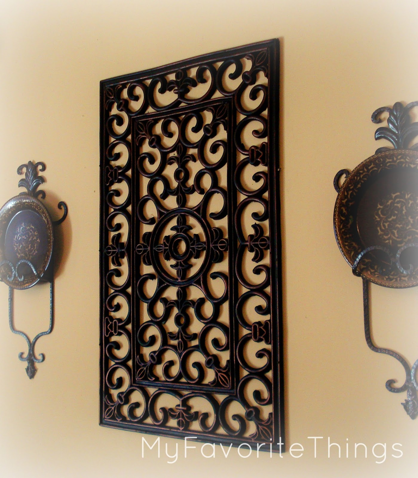 "Black Wrought Iron Wall Decor My Favorite Things ""wrought Iron"" Wall Art"