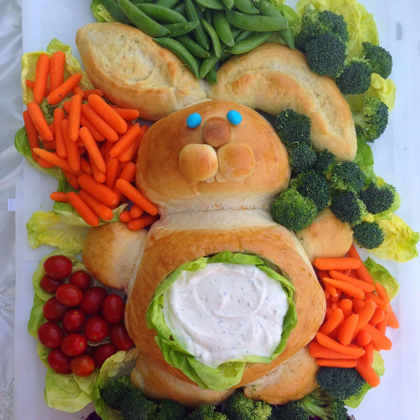 Easter Bunny Bread With Dip