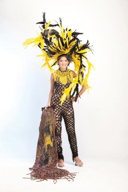 Srta. Colombia 2011-2012. Desfile en traje artesanal Norte de Santander: Alejandra Osorio Chávez