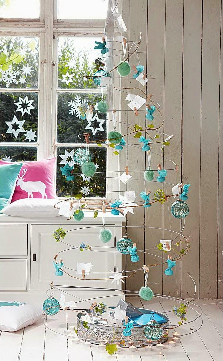 Rbol de navidad original y creativo colores en casa - Arbol navidad colores ...