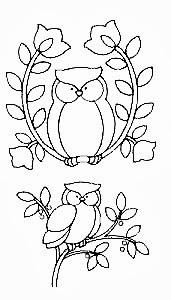 desenho de corujinhas para pintar
