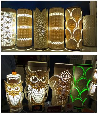 arte com PVC; luminárias artesanais; Jean Michel;