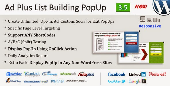 Ad Plus List Building Popup v3.7