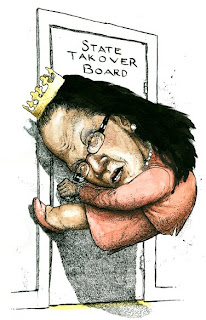 Mayor Linda Thompson of Harrisburg drawn by Ammon Perry