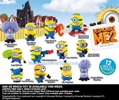McDonald's Happy Meal Despicable Me 2 Australia