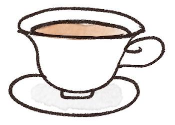 紅茶・ティーカップのイラスト(カフェ)