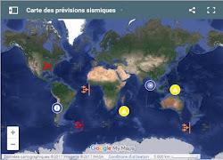 Carte des prévisions sismiques