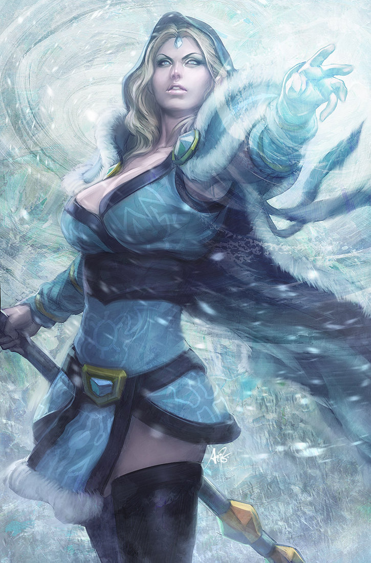 Find out more about Rylai by reading the Dota 2 Crystal Maiden Guide  Dota Wallpaper Crystal Maiden