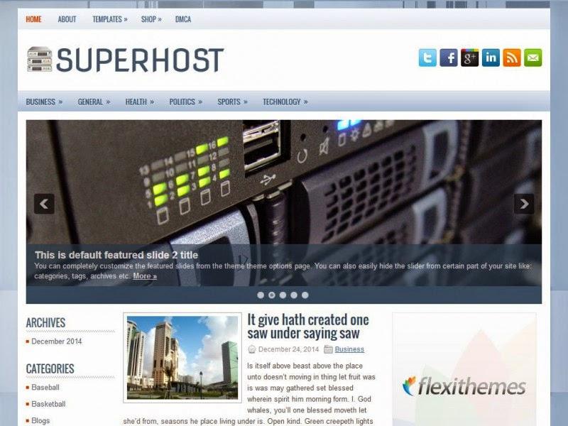 SuperHost - Free Wordpress Theme