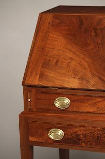Antique reproduction Slant Front Desk