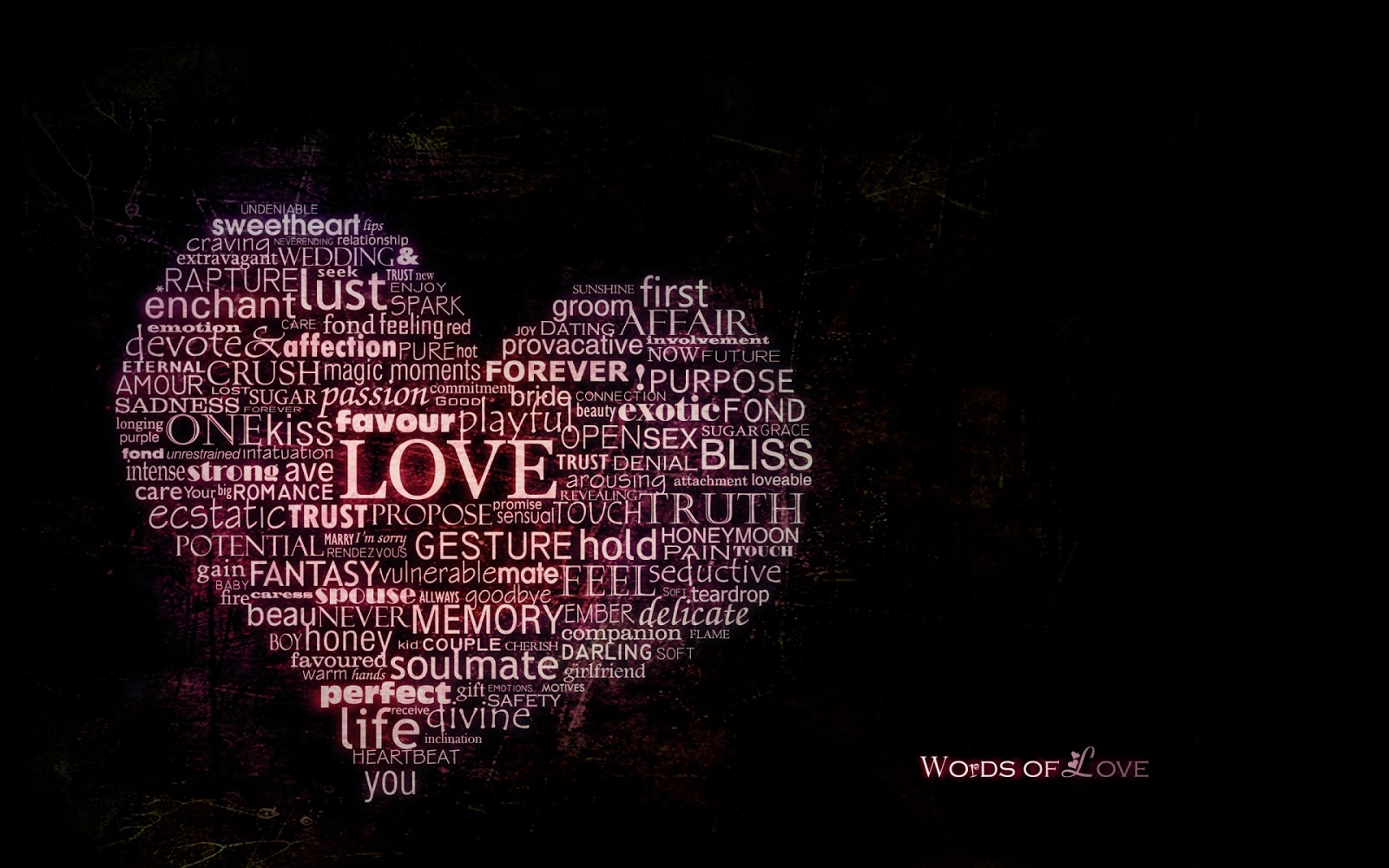 Words of Love 1920x1200 Wallpaper