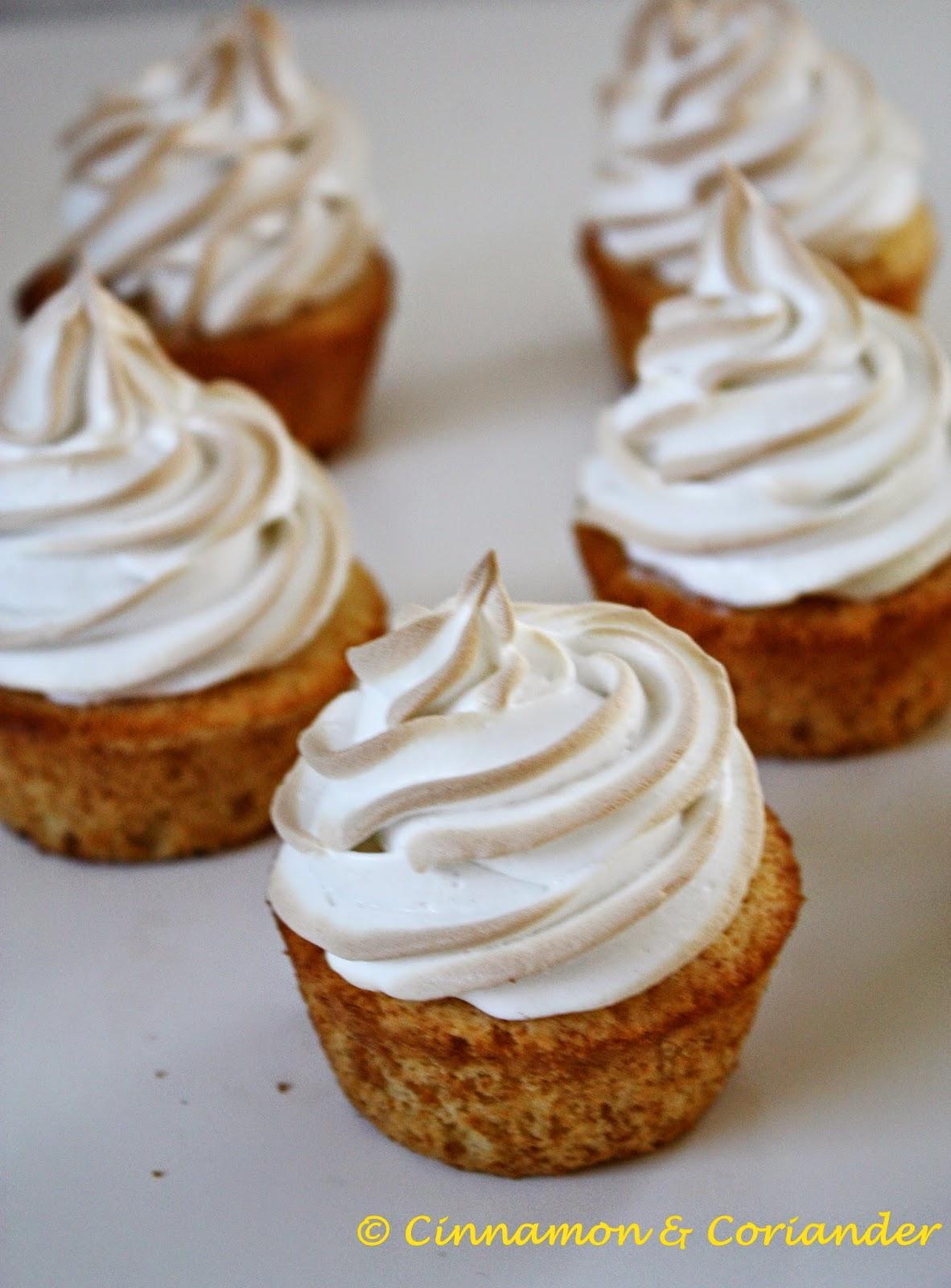 Lemon Curd Cupcakes Meringue Frosting