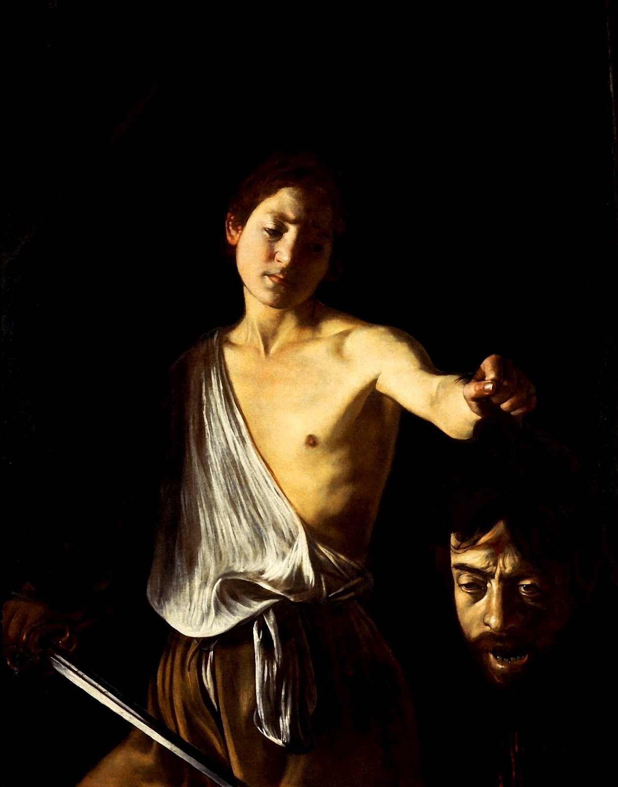 caravage david goliath painting