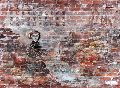 Brick Wall Art my foto search: brick wall art