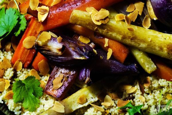 Geroosterde groenten en couscous