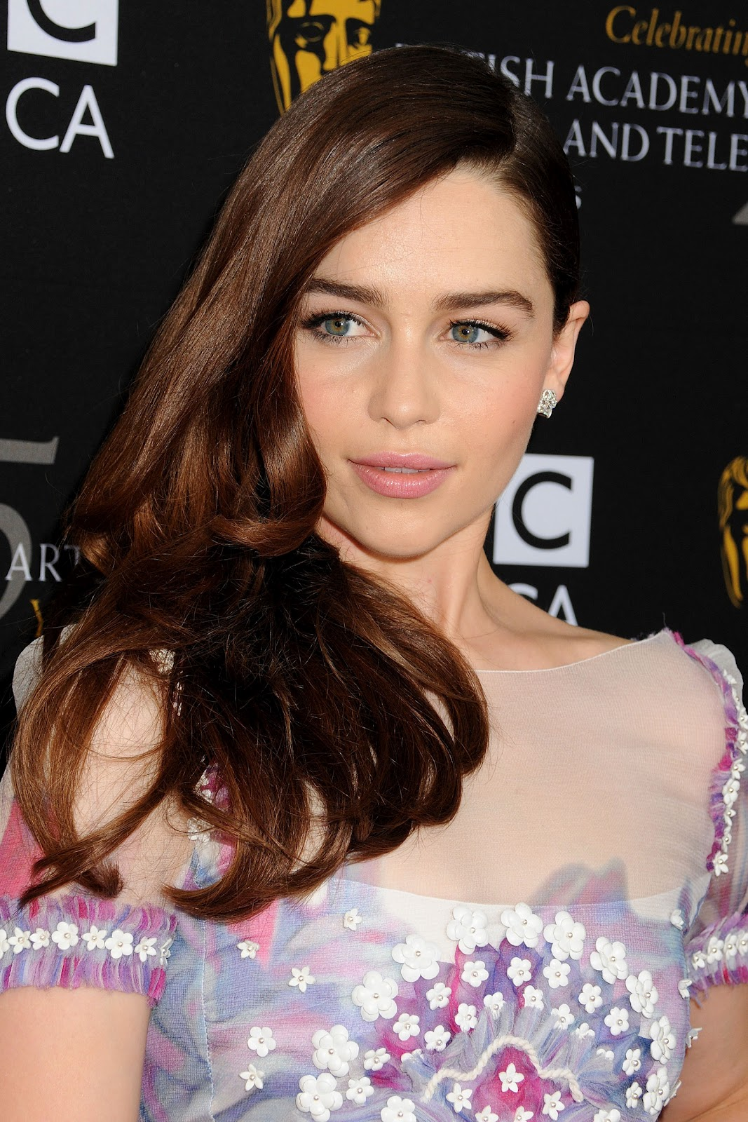 the red carpet emilia clarke dazzles at the 2012 bafta la
