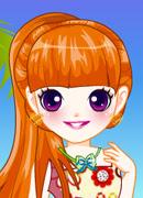 Цветочный образ - Онлайн игра для девочек