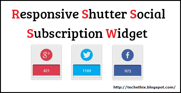 responsive social subscription blogger widget