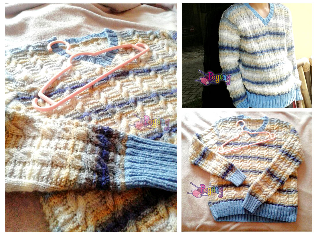Ajeng Belajar Merajut: Rajut Free Knitting Pattern : Cable Sweater