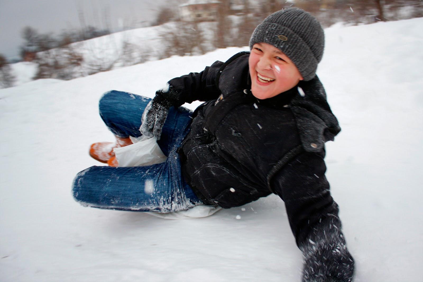 Sugören'de Kış - Karda Kayan Çocuklar-6