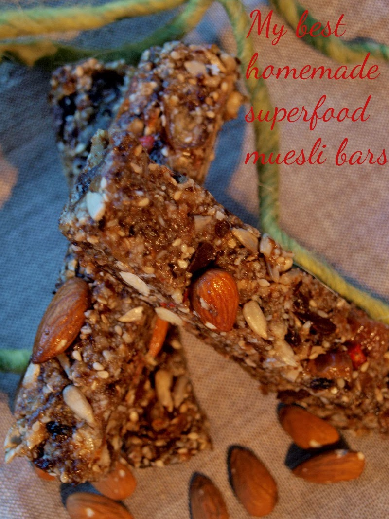 Raw fit happy my best homemade superfood muesli bars for Superfood bar
