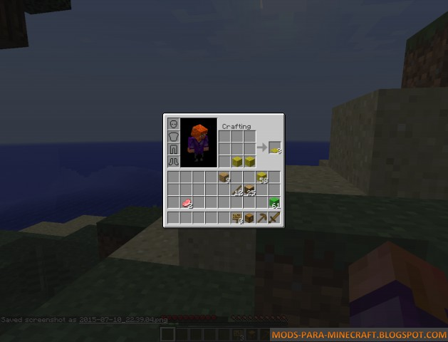Inventory Crafting Grid Mod para Minecraft 1.8/1.8.8
