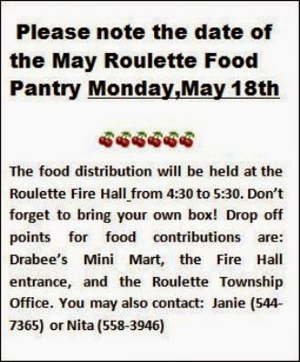 5-18 May Roulette Food Pantry