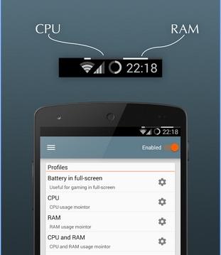 Menambahkan indikator CPU dan RAM
