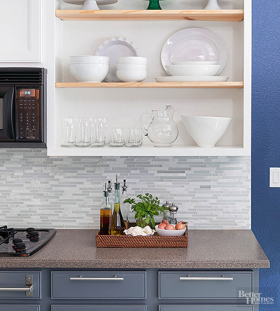 So Glass Tile Is Very Suitable Andpractical For Use As A Backsplash In  Kitchen, Because The Surface Of ...