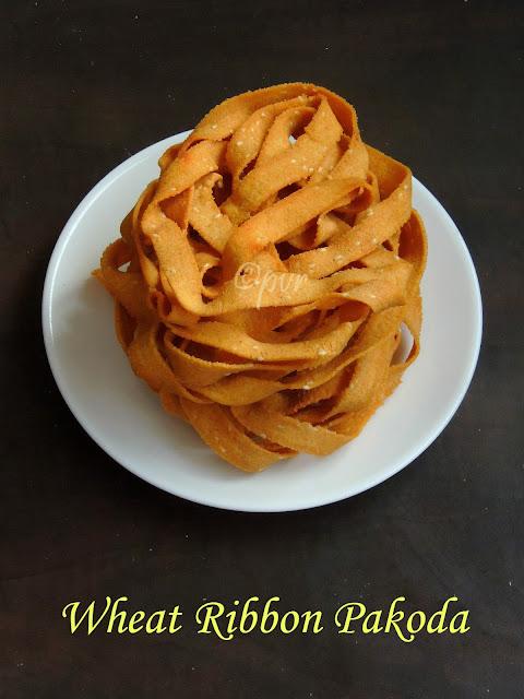 Wheat Ribbon Pakoda, Godhumai Ola Pakoda