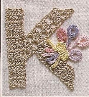 Letra K a Crochet