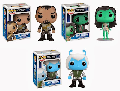 Star Trek The Original Series Pop! Television Vinyl Figures by Funko - Klingon, Orion Slave Girl & Andorian