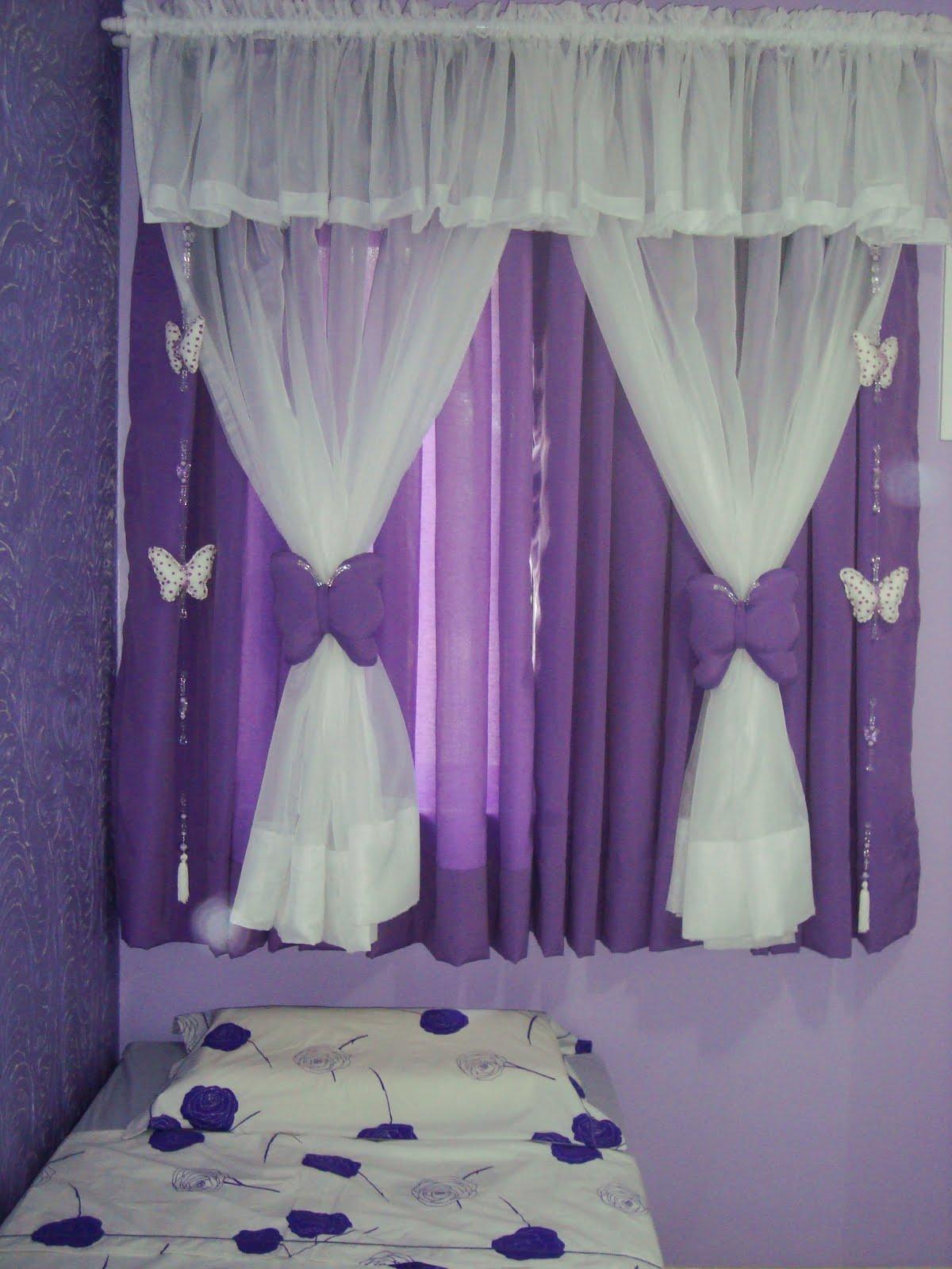 Arte diferenciada cortinas e quartos roxo for Cortinas para aulas