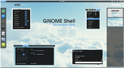 Elementary Luna inspired GNOME Shell theme
