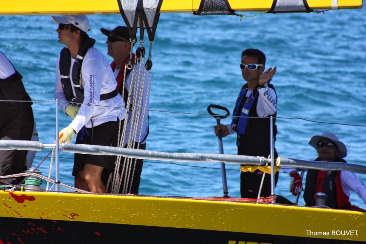 Franck Cammas, 2e de la Groupama Race en Nouvelle-Calédonie.