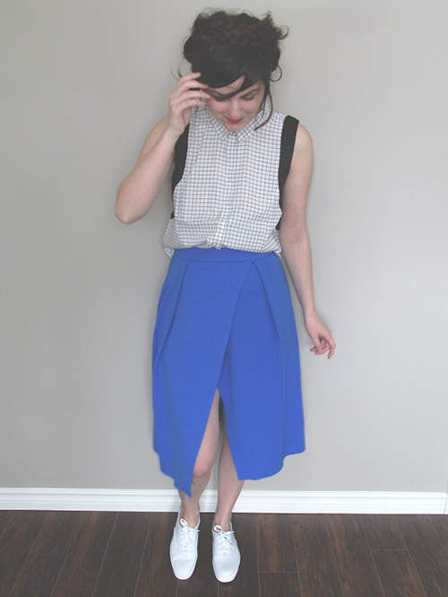 blue Asos wrap skirt