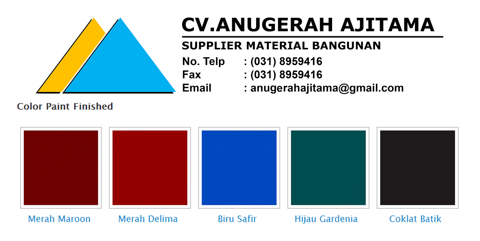 GENTENG METAL ARISTA ROOF WARNA NATURAL