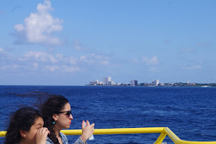 Approaching Cozumel on Ferry