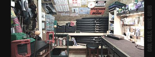 Image result for garage gun shop