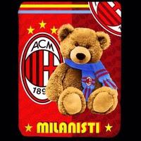 Jual Selimut Kendra Soft Panel Blanket AC Milan Bear