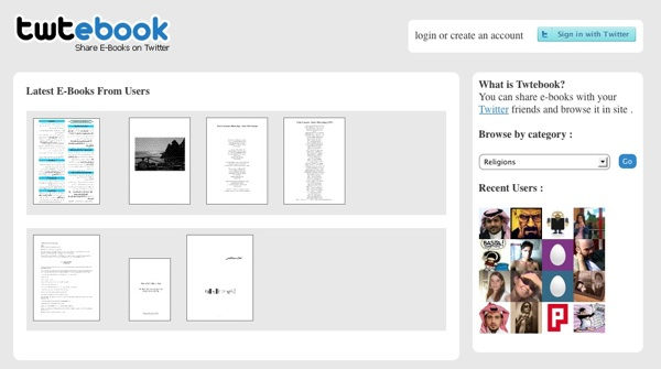 Twtebook - share eBooks on Twitter
