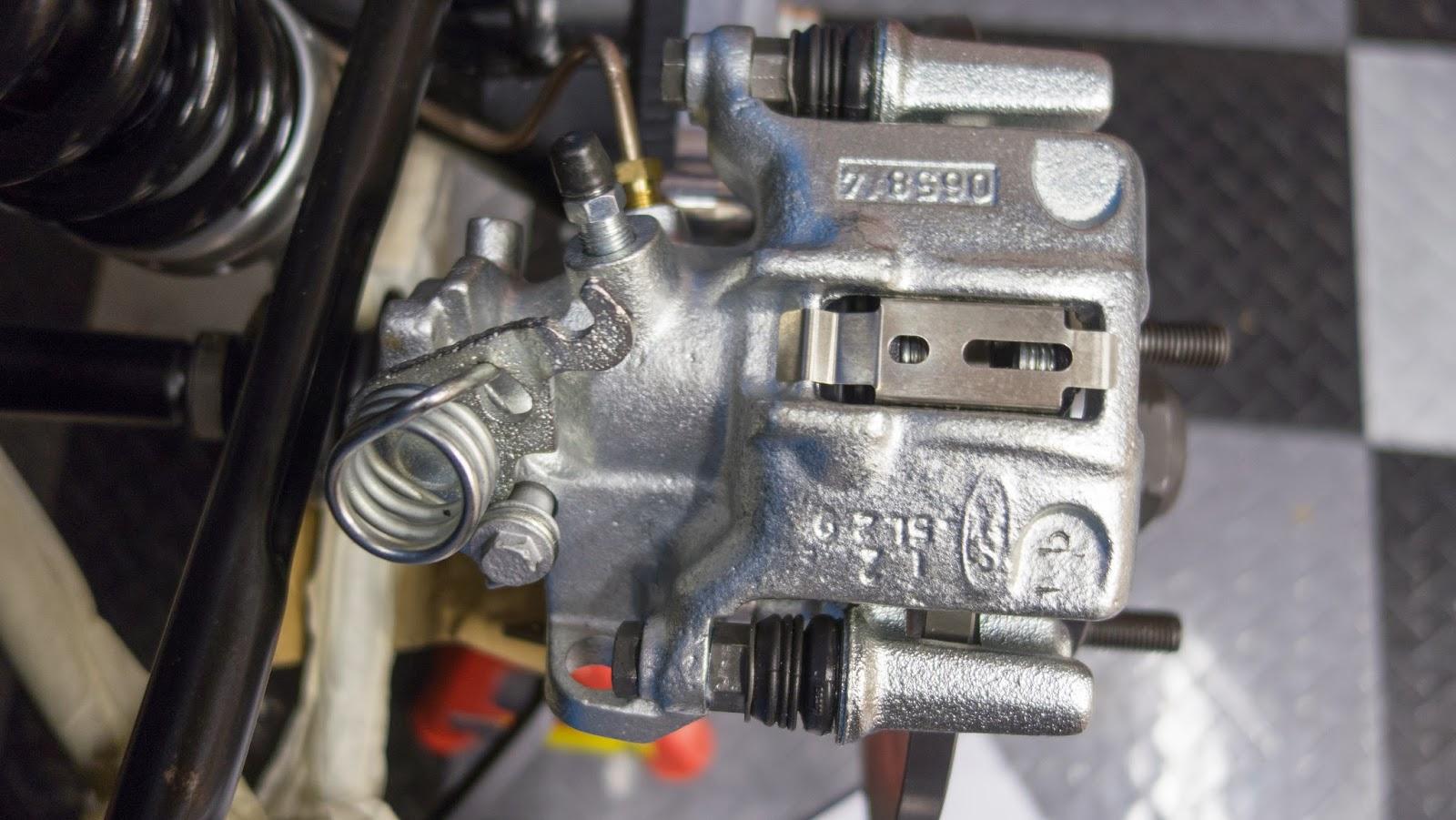 One brake calliper finished.
