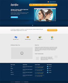 Snickles: Modern Business Template in Adobe Photoshop