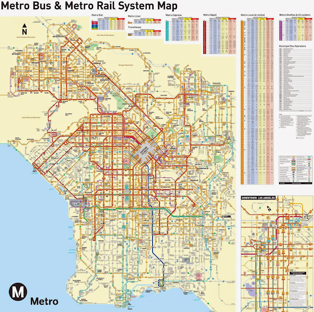 map of los angeles metro trains and buses