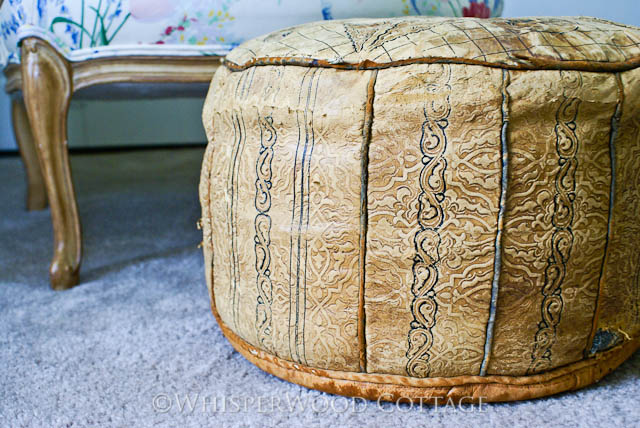WhisperWood Cottage Pouf WellLoved Vintage Moroccan PoufOttoman Amazing Moroccan Poufs For Sale