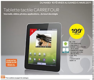 Tablette tactile CARREFOUR