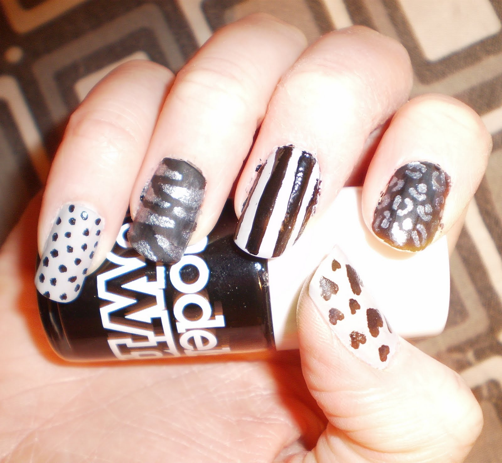 Superb silver nail designs nail picture art superb silver nail designs prinsesfo Choice Image