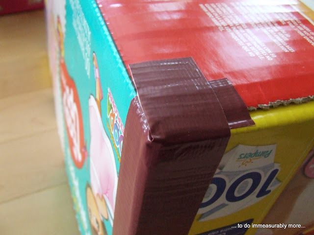 Duck Taped Box Corners